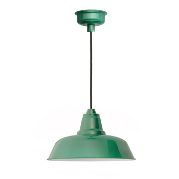 "12"" Goodyear LED Pendant Light in Vintage Green"