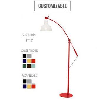 Customizable Blackspot Floor Lamp