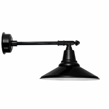 "12"" Calla LED Barn Light with Victorian Arm- Black"