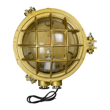 Cocoweb's Temora Bulkhead Wall Sconce in Gold (AM-CH97-GS)