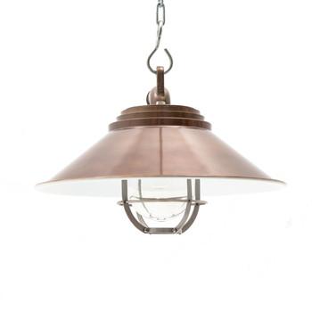 Albury Nautical Pendant Light in Vintage Brass