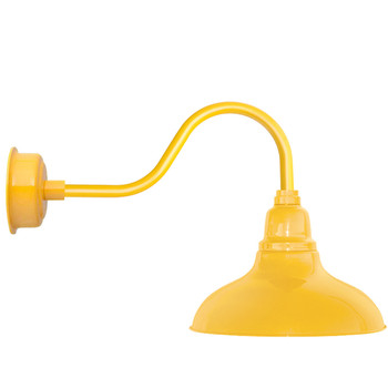 """12"""" Dahlia LED Barn Light with Contemporary Arm in Yellow"""