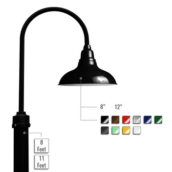 Customizable Dahlia LED Barn Lamp Post