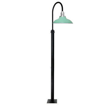 "96"" Peony Barn Post Lights with 10"" Shade - Jade"