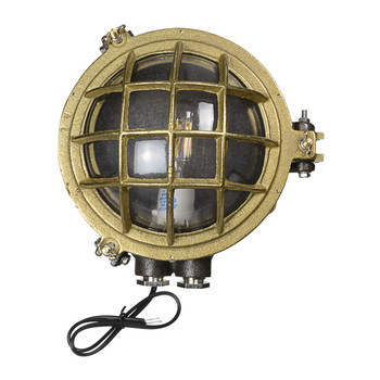 Temora Bulkhead Wall Sconce in Original Brass (AM-Q883-BR)