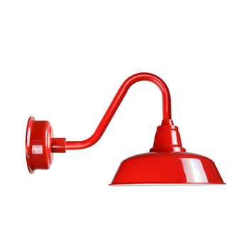 "Cocoweb 10"" Goodyear Barn Light in Cherry Red with Vintage Arm"