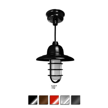 Customizable Pottery Indoor LED Barn Pendant Light