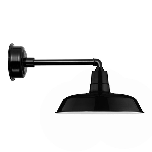 "16"" Black Metropolitan Oldage Indoor/Outdoor LED Barn Light"