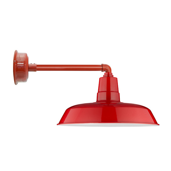 "16"" Cherry Red Oldage Indoor/Outdoor Metropolitan LED Barn Light"