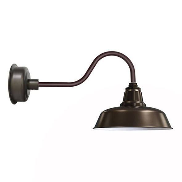 "14"" Contemporary Goodyear Mahogany Bronze Indoor/Outdoor LED Barn Lights"