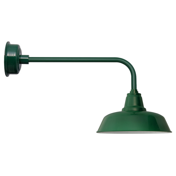 "Vintage Green 14"" Goodyear Indoor/Outdoor Traditional LED Barn Lights"