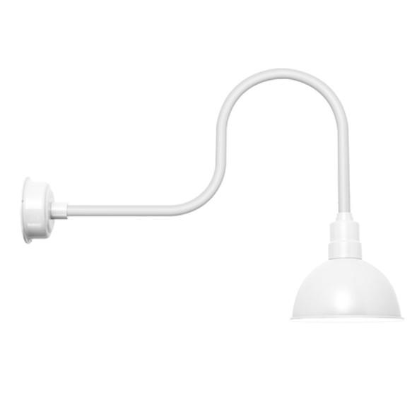 "Blackspot White Industrial Indoor/Outdoor 10"" LED Barn Light"