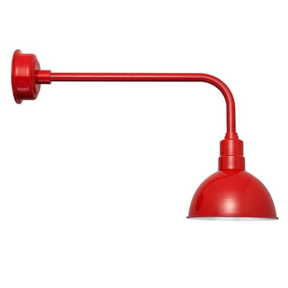 "Traditional Blackspot 10"" Cherry Red LED Barn Lights"