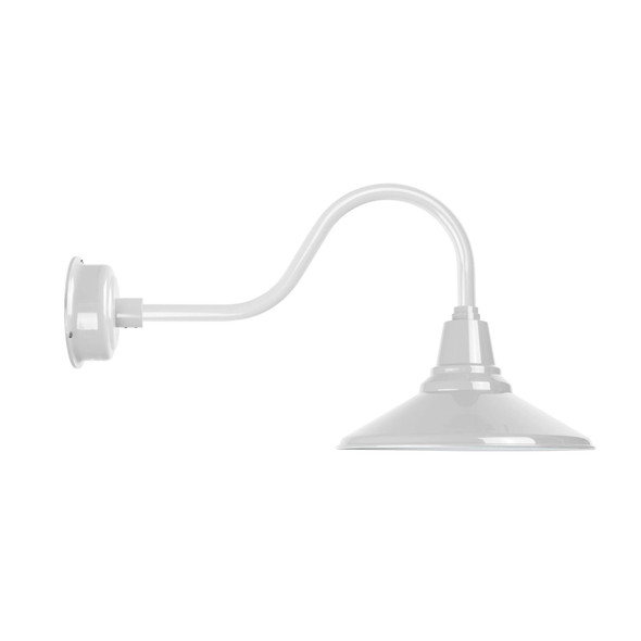 "Contemporary 16"" Calla White Indoor/Outdoor LED Barn Light"