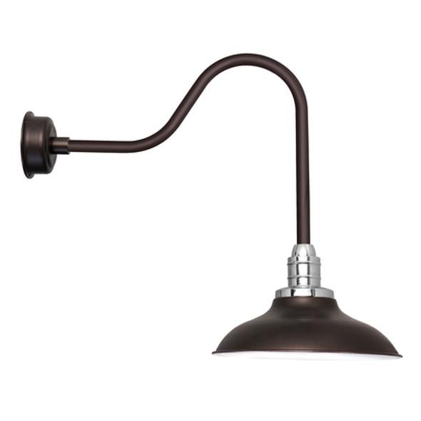 """10"""" Peony Mahogany Bronze Sleek LED Barn Lights"""