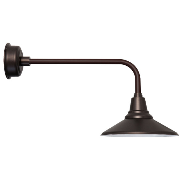 "Indoor/Outdoor Calla 16"" Mahogany Bronze Traditional LED Barn Light"