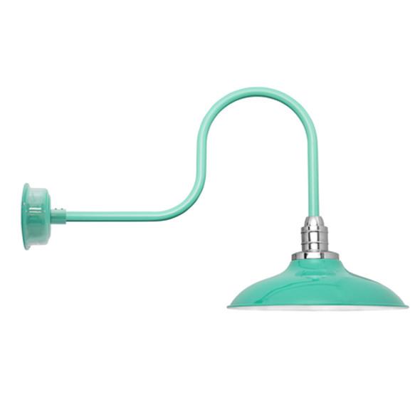 "12"" Industrial Jade Peony Barn Lights"