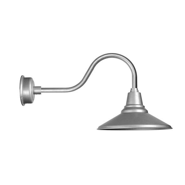 "Indoor/Outdoor 16"" Calla Contemporary Galvanized Silver LED Barn Light"