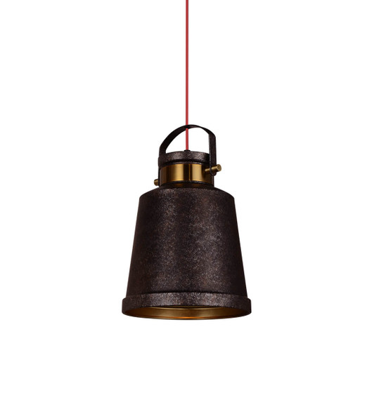 "10"" Biella LED Pendant Light in Charcoal"