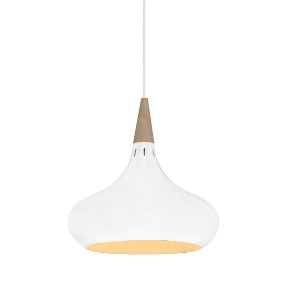 "14"" Manarola LED Pendant Light in White"