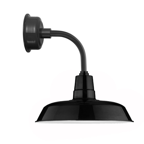 "12"" Oldage LED Sconce Light with Trim Arm in Black"
