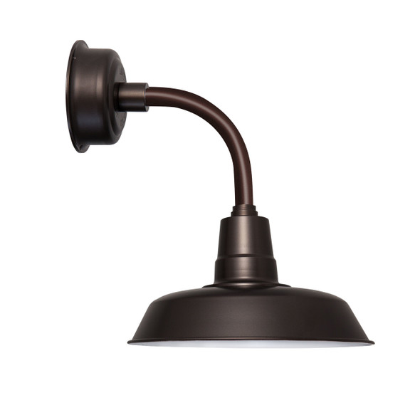 """12"""" Oldage LED Sconce Light with Trim Arm in Mahogany Bronze"""