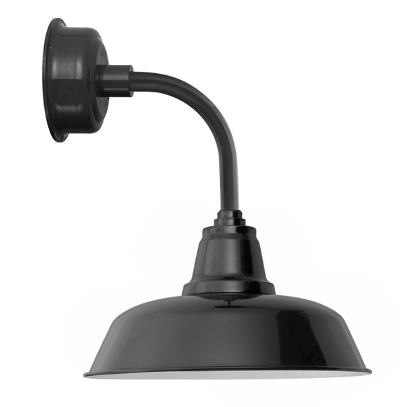 "10"" Goodyear LED Sconce Light with Trim Arm in Black"