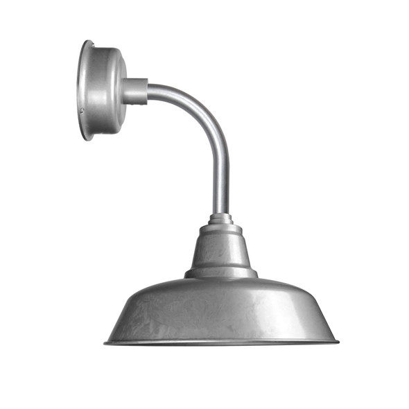 """14"""" Goodyear LED Sconce Light with Trim Arm in Galvanized Silver"""