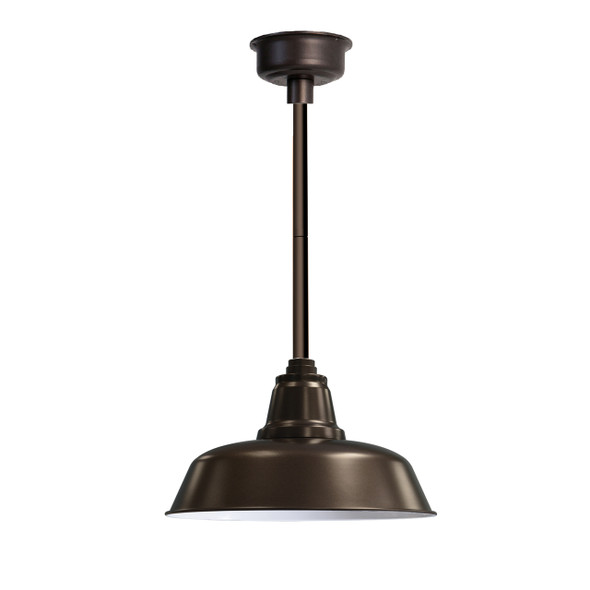 "12"" Goodyear LED Pendant Light in Mahogany Bronze with Mahogany Bronze Downrod"