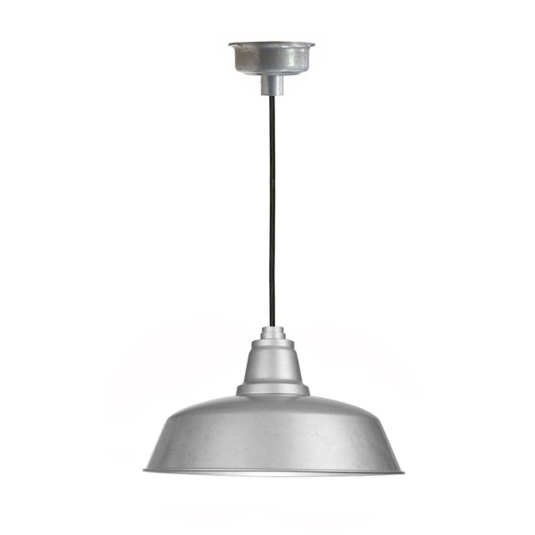 "10"" Goodyear LED Pendant Light in Galvanized Silver"