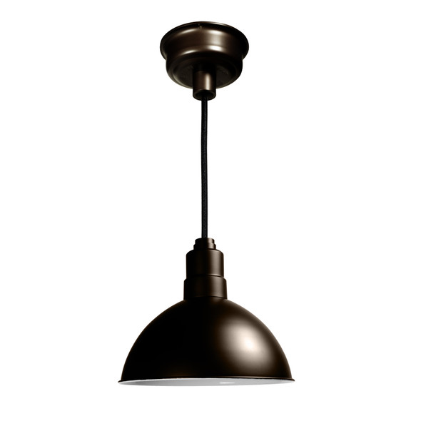 "8"" Blackspot LED Pendant Light in Mahogany Bronze"