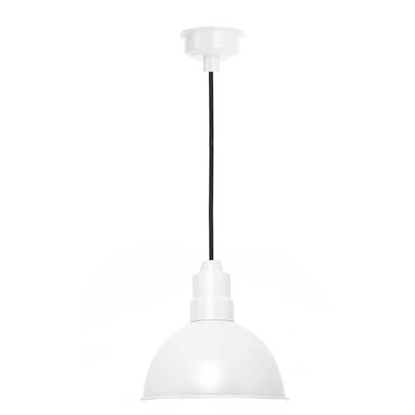 "8"" Blackspot LED Pendant Light in White"