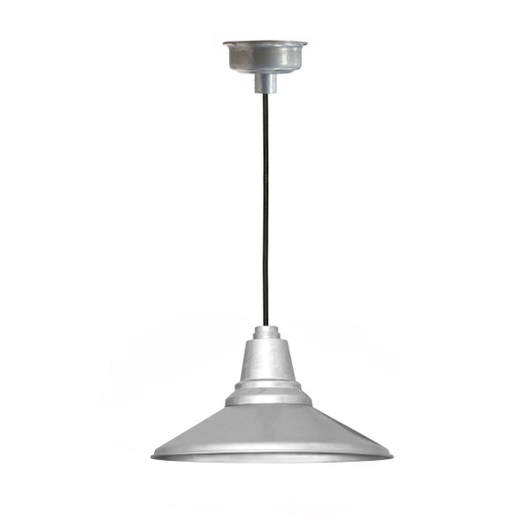 "12"" Calla LED Pendant Light in Galvanized Silver"