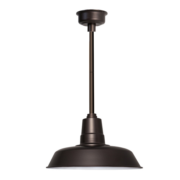 "16"" Oldage LED Pendant Light in Mahogany Bronze with Mahogany Bronze Downrod"
