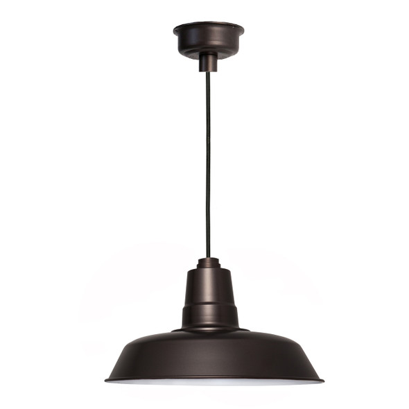 "18"" Oldage LED Pendant Light in Mahogany Bronze"