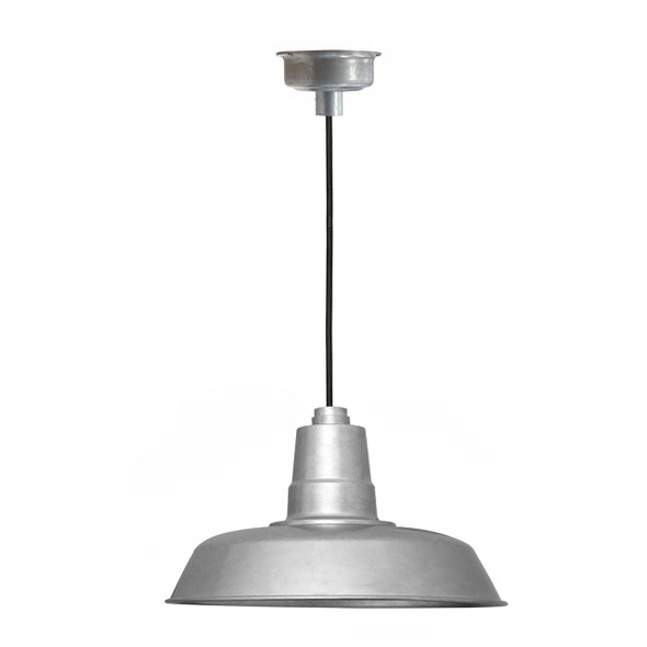 "12"" Oldage LED Pendant Light in Galvanized Silver"