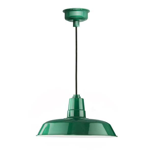 "12"" Oldage LED Pendant Light in Vintage Green"
