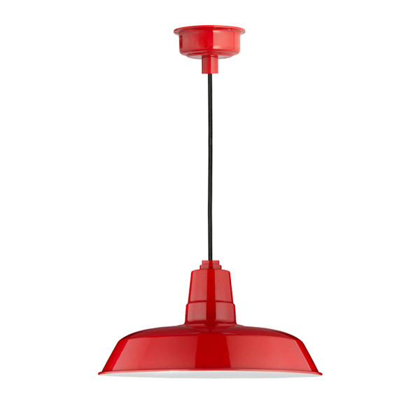 "12"" Oldage LED Pendant Light in Cherry Red"