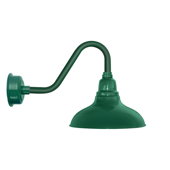 "8"" Dahlia LED Barn Light with Vintage Arm in Vintage Green"
