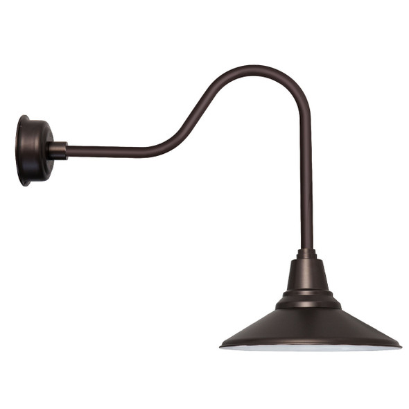 "20"" Calla LED Barn Light with Sleek Arm in Mahogany Bronze"