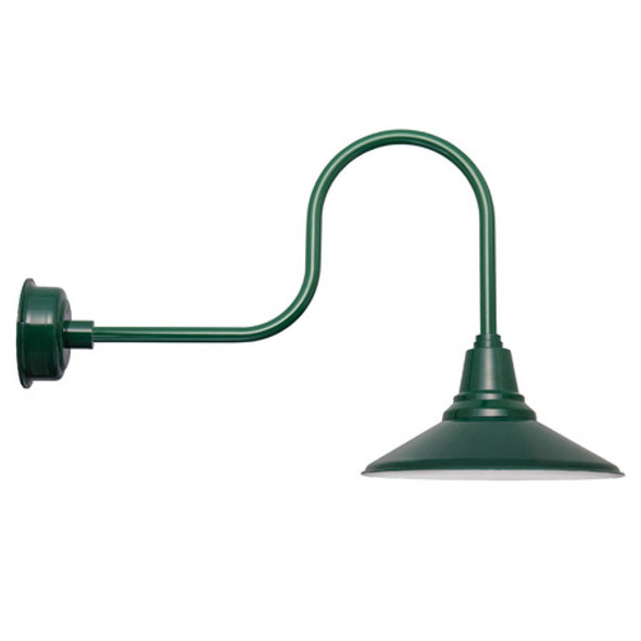 "20"" Calla LED Barn Light with Industrial Arm in Vintage Green"