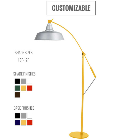 Goodyear Customizable Industrial Floor Lamp