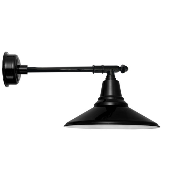 "14"" Calla LED Barn Light with Victorian Arm - Black"