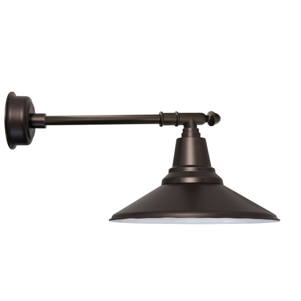 "14"" Calla LED Barn Light with Victorian Arm - Mahogany Bronze"