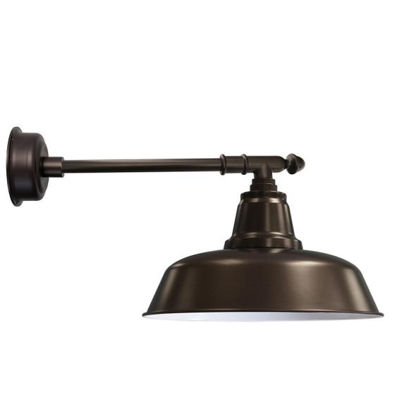 "12"" Goodyear LED Barn Light with Victorian Arm - Mahogany Bronze"