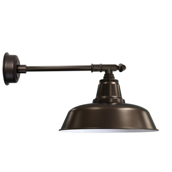 "16"" Goodyear LED Barn Light with Victorian Arm - Mahogany Bronze"