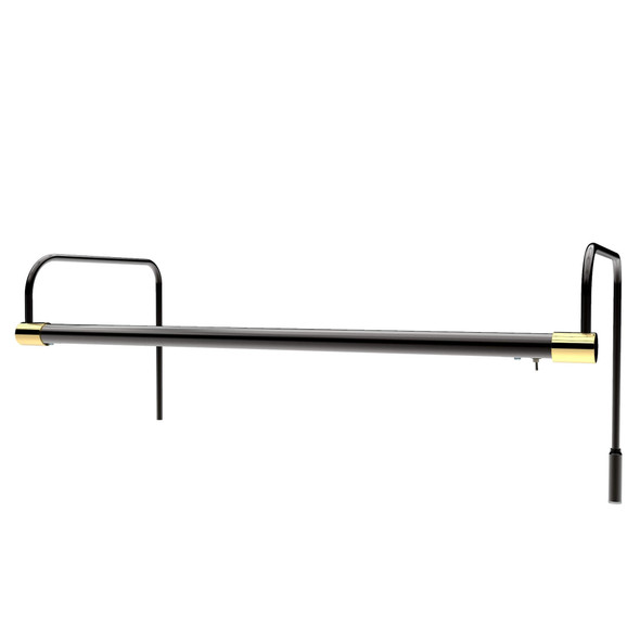 "21"" Tru-Slim Hardwired LED Picture Light - Black with Brass Accents"