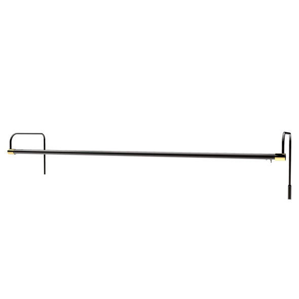 """43"""" Tru-Slim Hardwired LED Picture Light - Black with Brass Accents"""