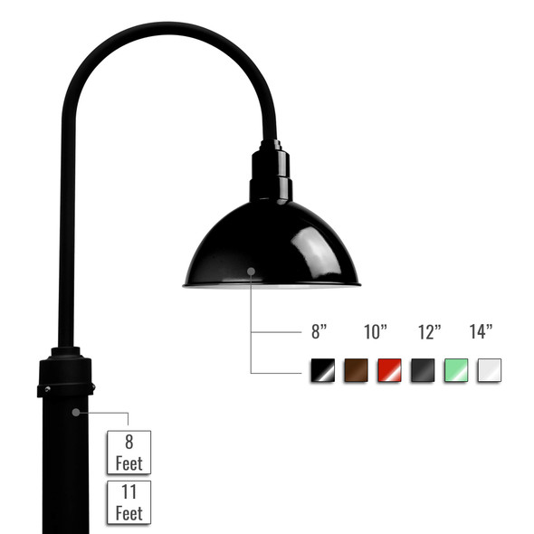 Customizable Blackspot LED Barn Lamp Post