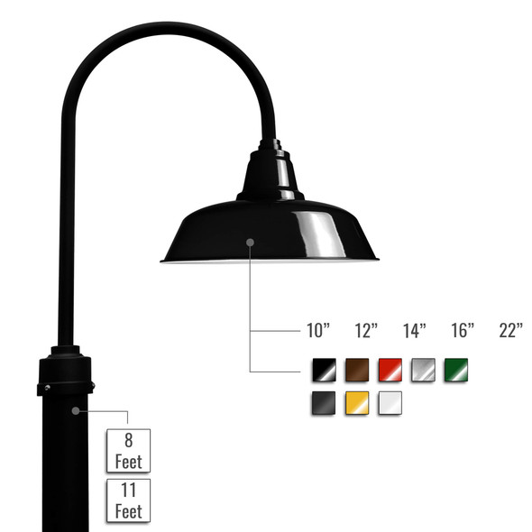 Customizable Goodyear LED Barn Lamp Post